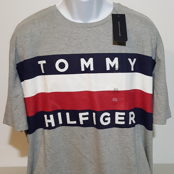 Tommy Hilfiger Other - Tommy Hilfiger Flag Logo Gray T Shirt XXL NWT